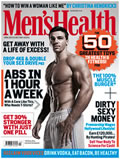 Men's Health magazine with Gloeb Gripz feature